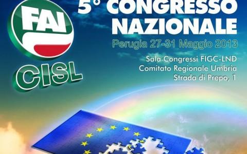Manifesto 5° Congresso Fai Cisl nazionale 27-31 maggio 2013
